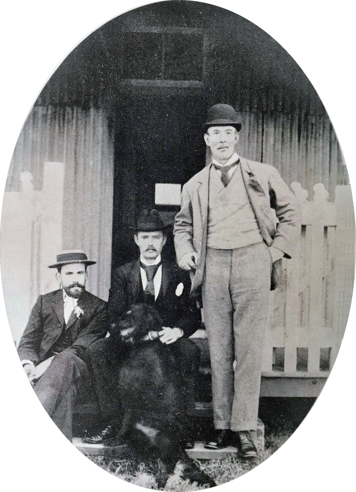 Dr R V Russel (right), Dr Fordyce (centre) 1897