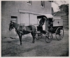 Horse drawn ambulance