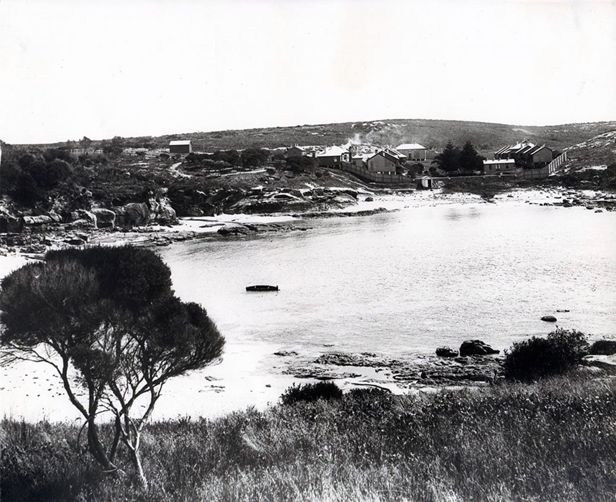 Looking north over The Sanitary Camp at Little Bay