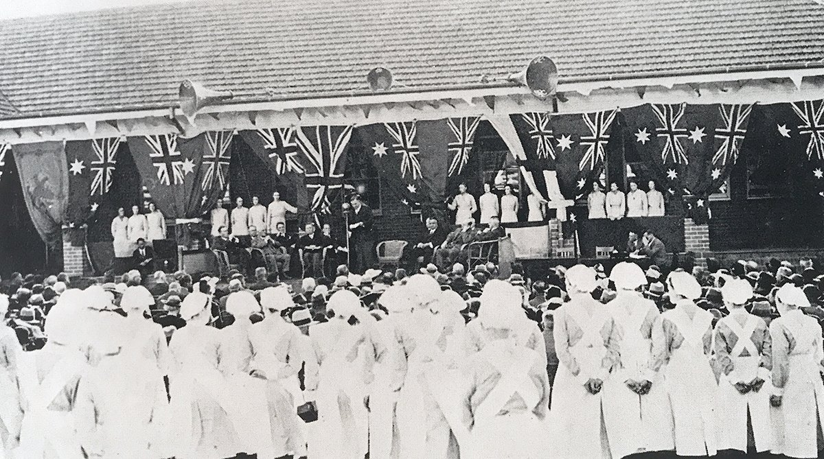 The opening ceremony for the Graduate Medical School. April 5, 1939.