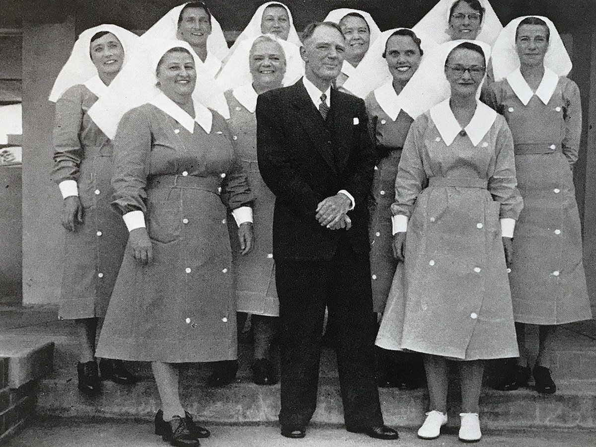 Dr Walters with nursing staff