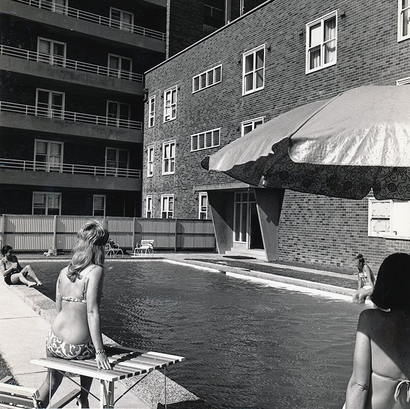 1970s_relaxing in quarters poolside