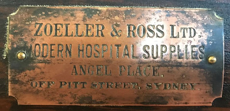1880s Zoeller & Ross operating table