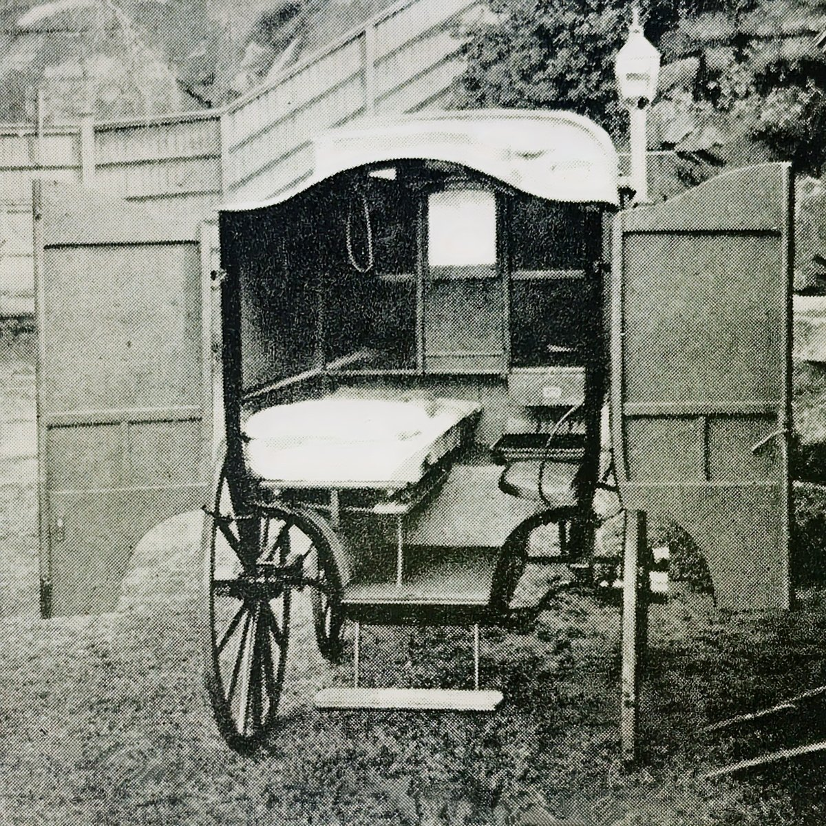horse drawn ambulance interior