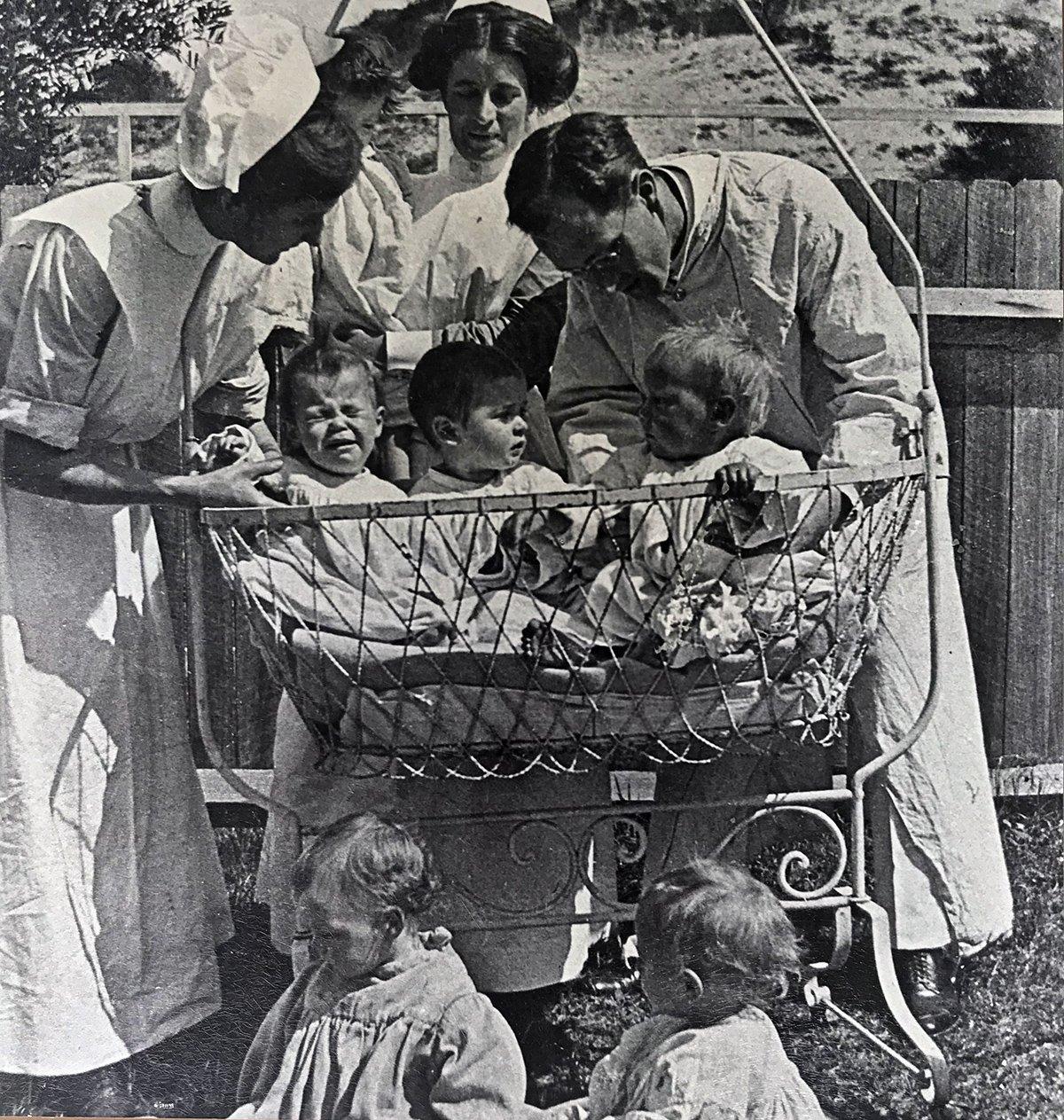 coast hospital nurse with babies