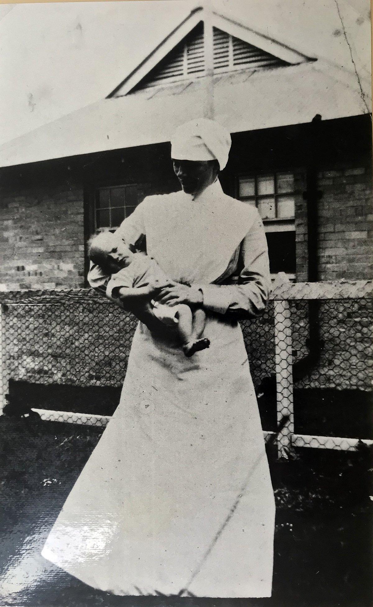 coast hospital nurse with baby