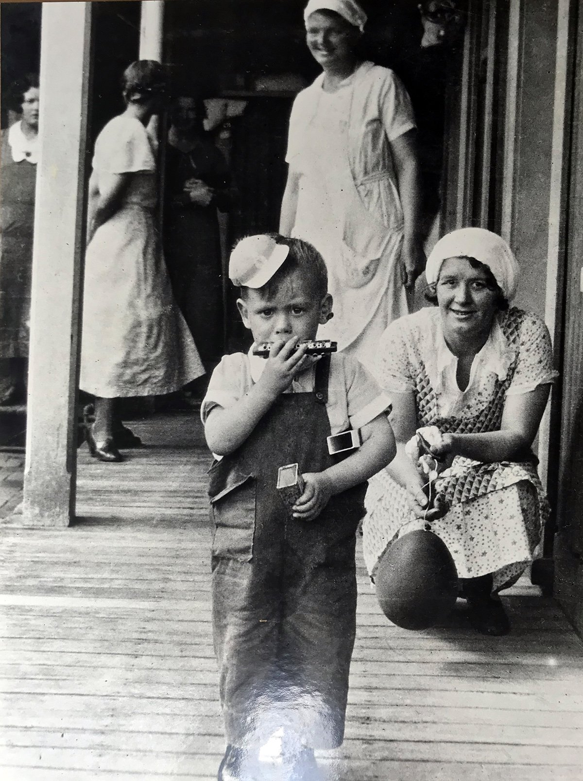 nurse with little boy