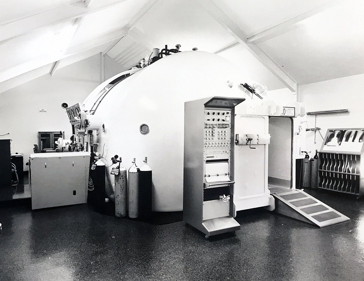 1970 completed hyperbaric chamber