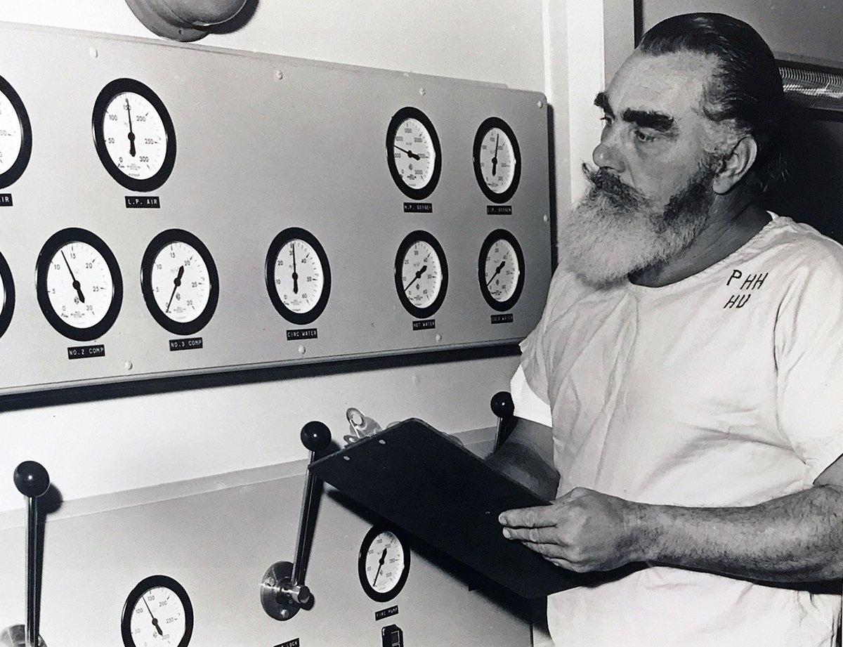 1971 technician Nobby Clarke monitors the system
