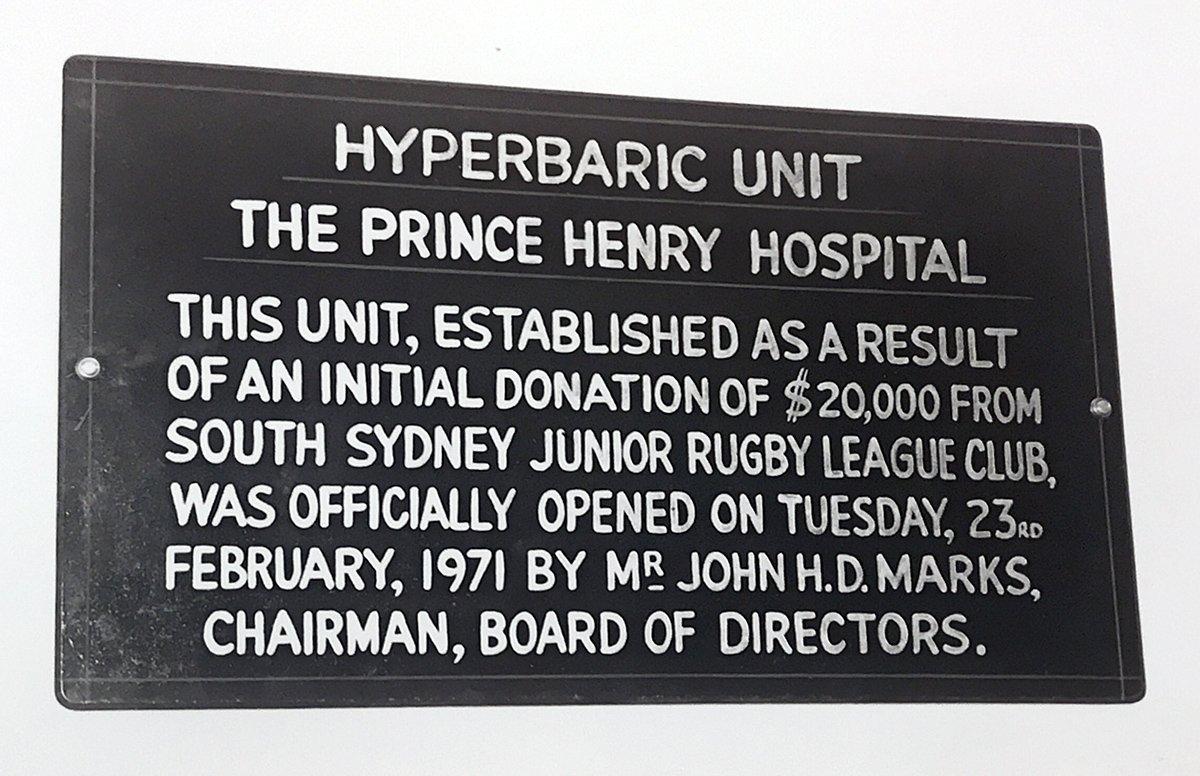 Hyperbaric chamber plaque