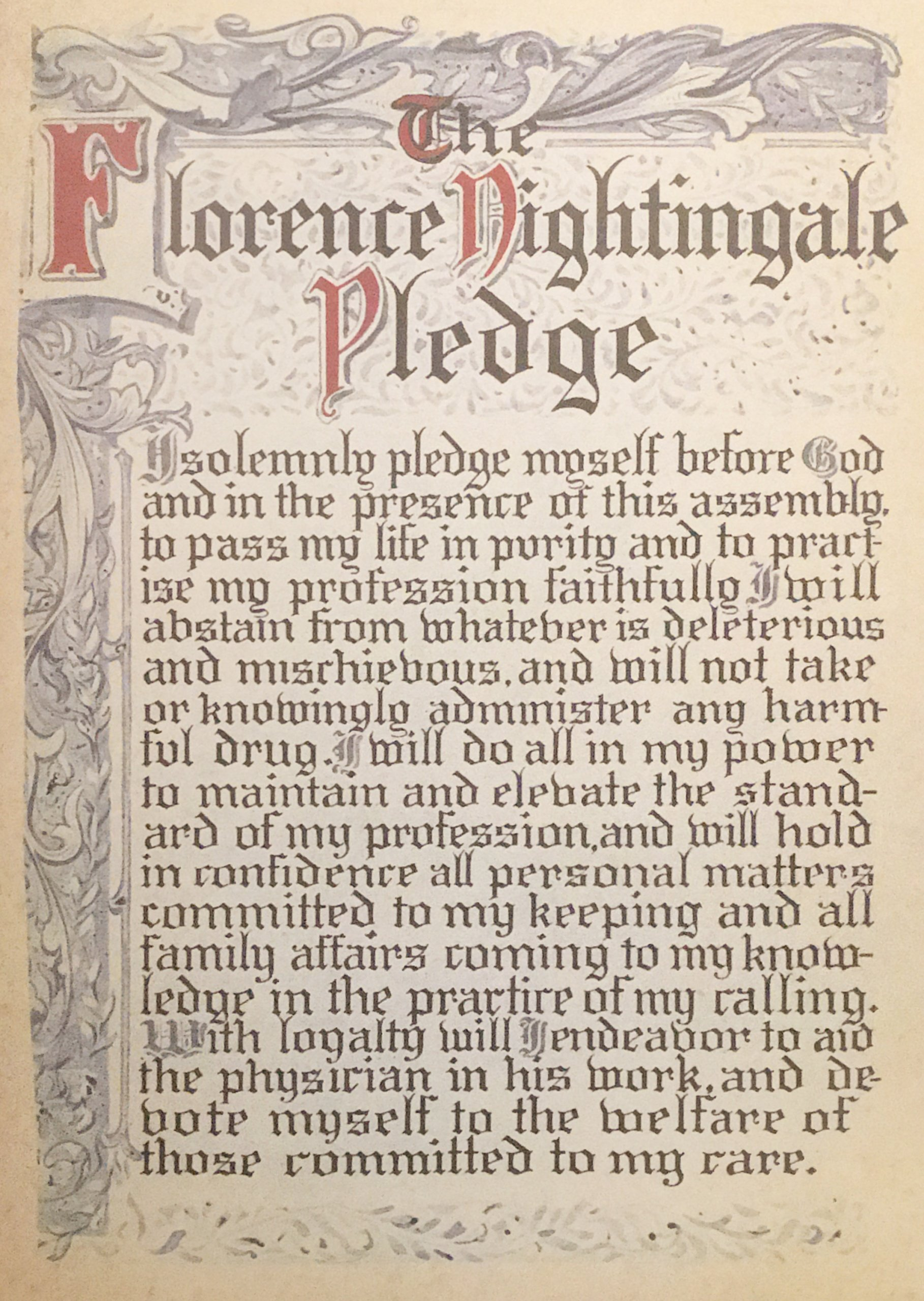 The nightingale pledge