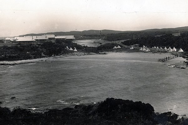 1900 View of Coast Hospital from across little bay