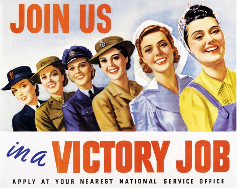 1939 Victory Jobs recruitment poster (AWM)
