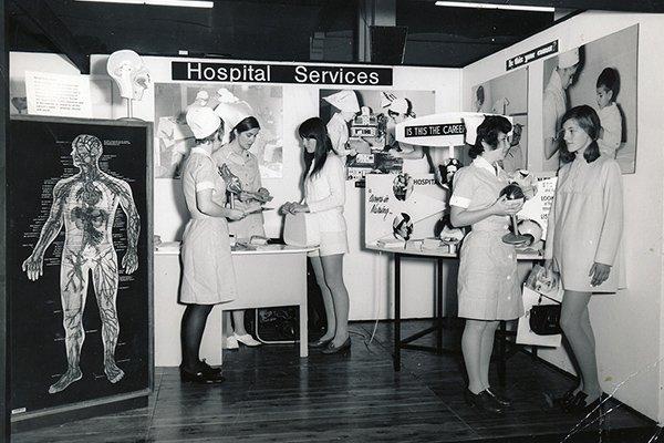 1960s Nursing recruitment stand