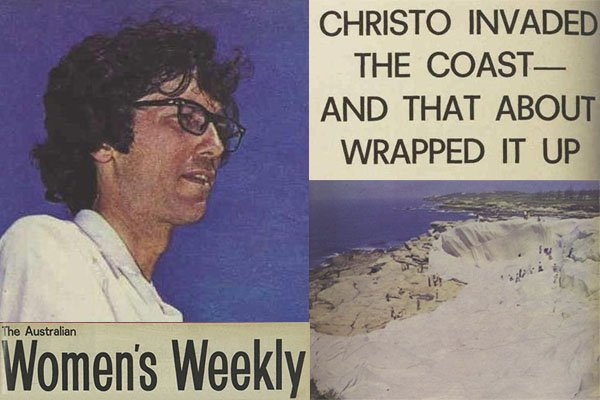 1970 Christo wraps Little Bay womens Weekly Clipping