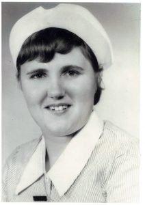 Nurse Ann Thompson first time in uniform