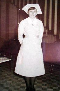 Prince Henry trained Nurse Ann Thompson in uniform