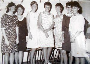Nurse Ann Thompson off duty with friends