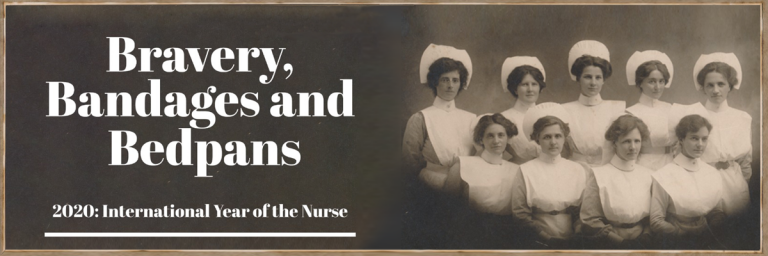 Bravery Bandages and Bedpans Exhibition Title