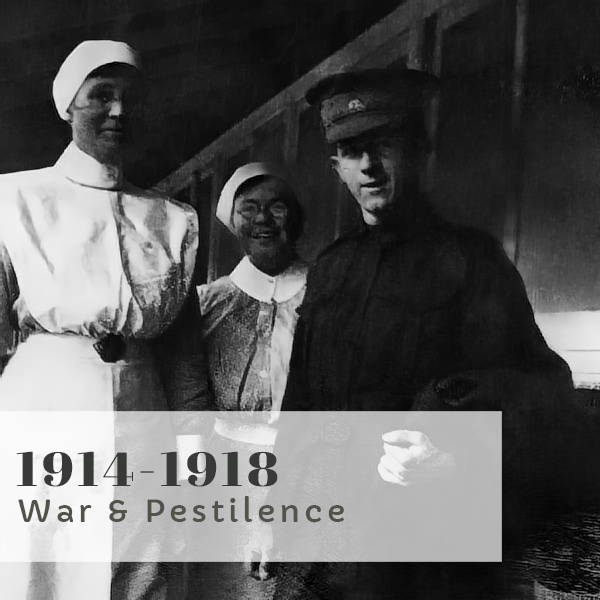 Bravery Bandages and Bedpans title 1914-1918 War and Pestilence