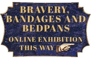 Bravery Bandages and Bedpans Exhibition pointer