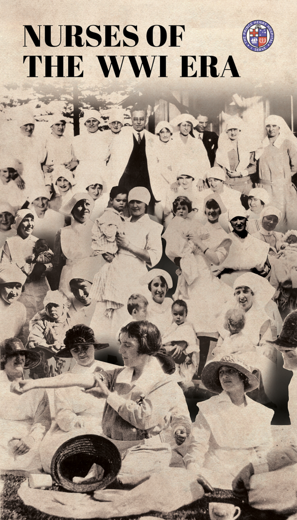 Bravery Bandages and Bedpans title banner Nurses of WW1